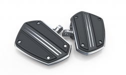 TWIN RAIL FLOORBOARDS WITH ADAPTERS FOR H-D MALE MOUNT CLEVIS