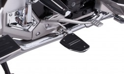 TWIN RAIL FOOTRESTS WITH H-D ADAPTERS
