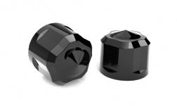 DIAMOND CUT BOLT CAP BLACK PAINTED