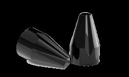 FLUTED SPIKE BOLT CAP BLACK PAINTED
